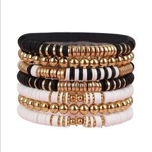 Beaded Elastic Bracelet Set